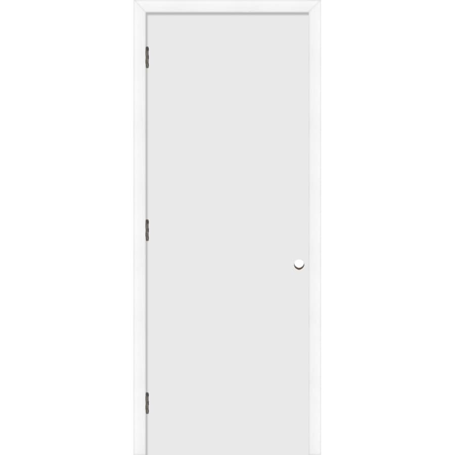 ReliaBilt Prehung Hollow Core Flush Interior Door (Common: 32-in x 80-in; Actual: 33.5-in x 81.5-in)