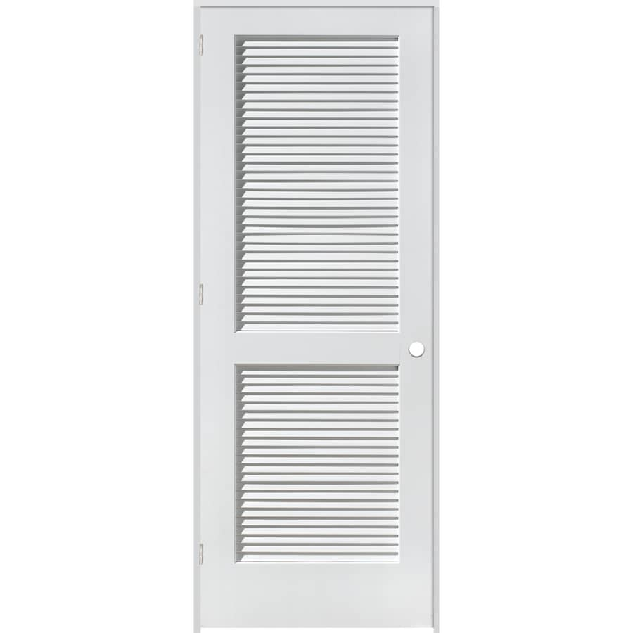Shop Reliabilt Louvered Solid Pine Right Hand Interior Single