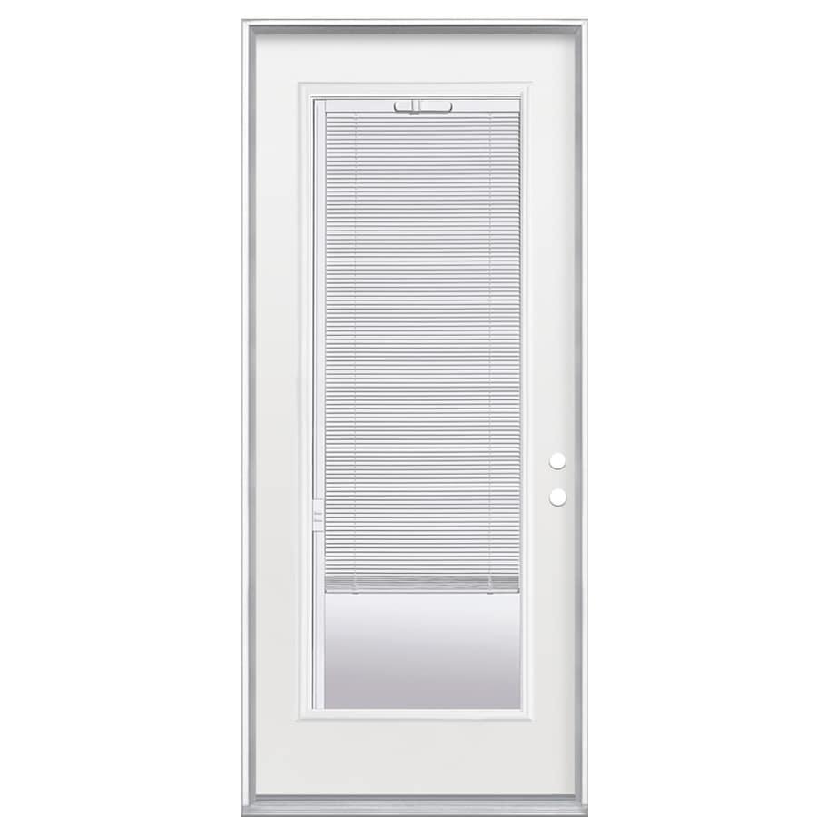 ReliaBilt Right-Hand Outswing Fiberglass Primed Entry Door (Common: 36-in x 80-in; Actual: 37.5-in x 80.375-in)