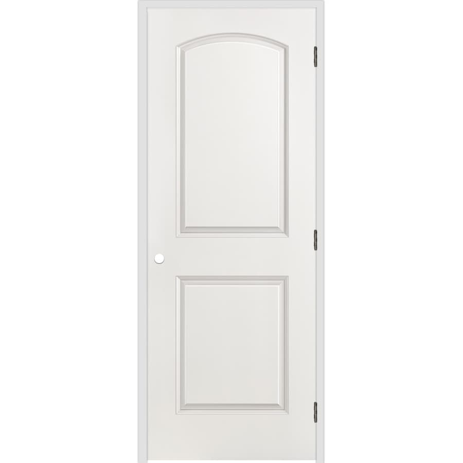 shop reliabilt primed 2 panel round top hollow core molded composite single pre hung door. Black Bedroom Furniture Sets. Home Design Ideas