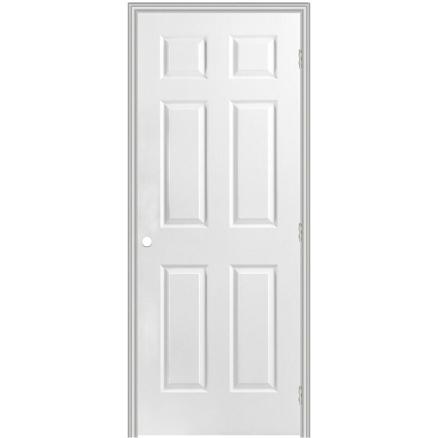 Shop Reliabilt Classics 6 Panel Single Prehung Interior Door Common 28 In X 78 In Actual 29