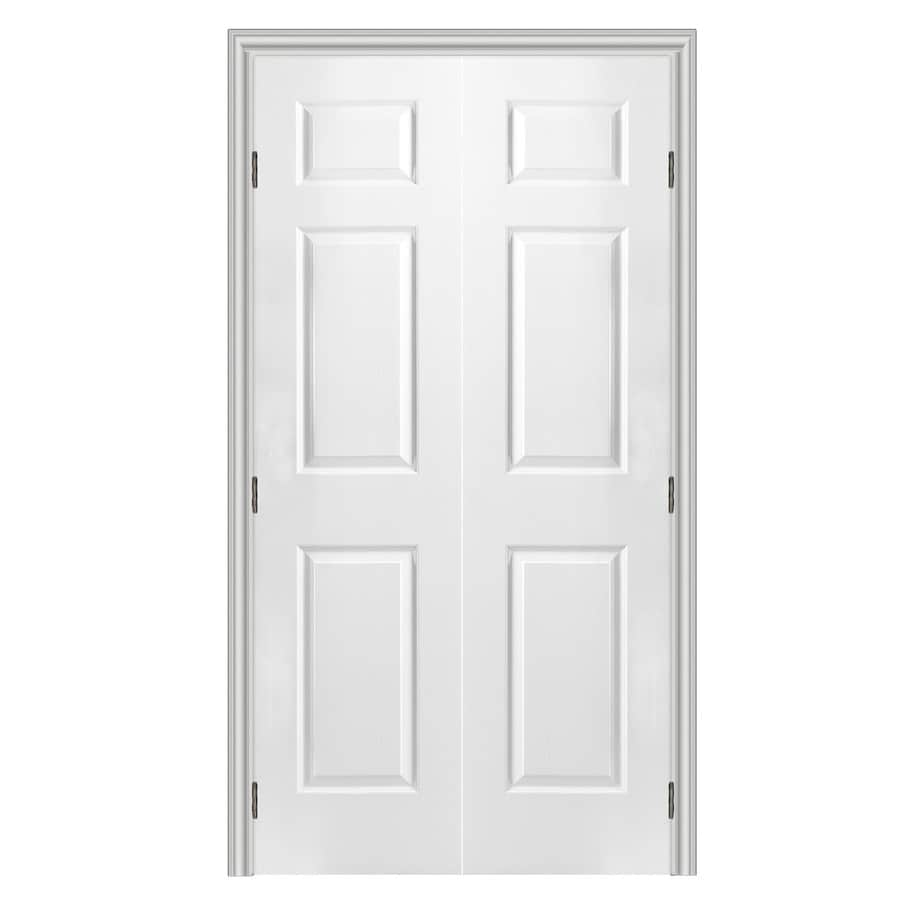 Superieur ReliaBilt 6 Panel Hollow Core Textured Molded Composite Reversible Interior  French Door (Common: