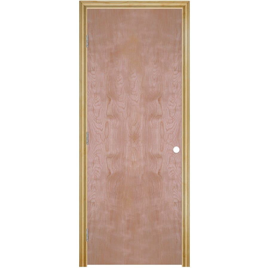 Shop Reliabilt Prehung Hollow Core Flush Birch Interior Door Common