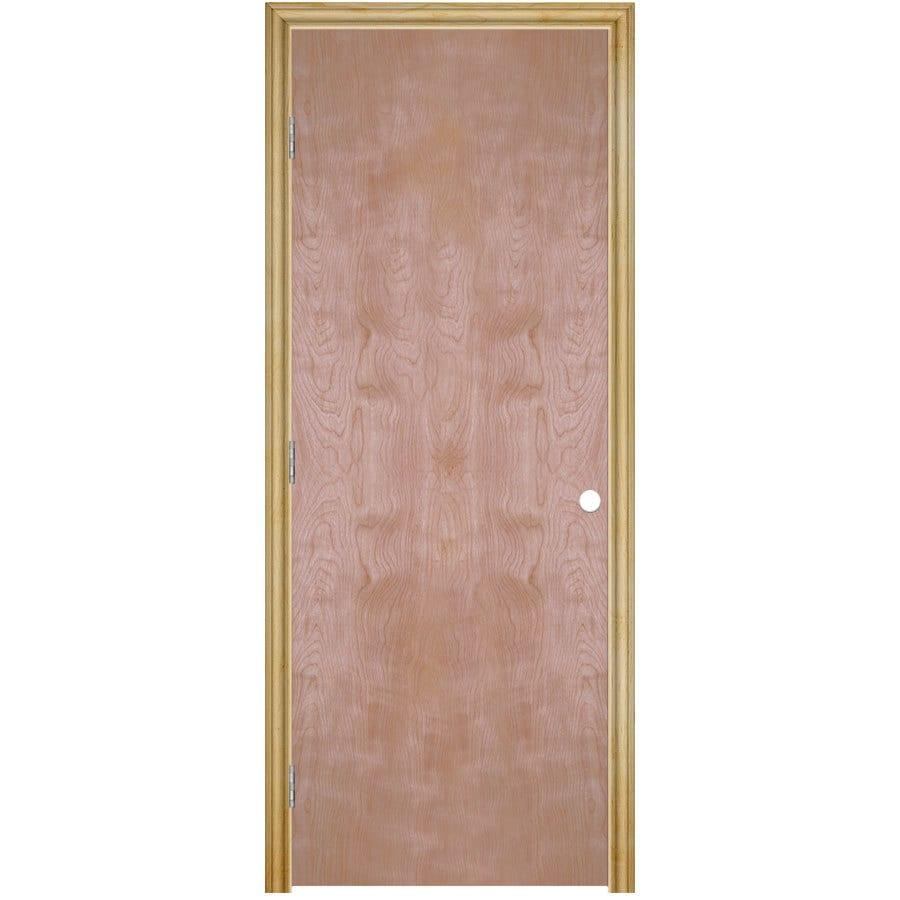 ReliaBilt Classics  Flush Birch Single Prehung Interior Door (Common: 32-in X 80-in; Actual: 33.5-in x 81.5-in)