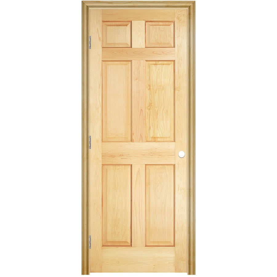 ReliaBilt Prehung Solid Core 6-Panel Pine Interior Door (Common: 24-in x 80-in; Actual: 25.5-in x 81.5-in)