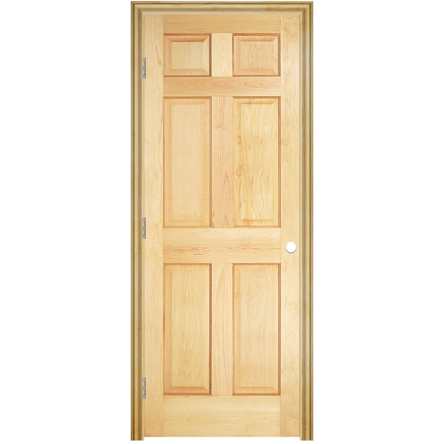 ReliaBilt Prehung Solid Core 6-Panel Pine Interior Door (Common: 32-in x 80-in; Actual: 33.5-in x 81.5-in)