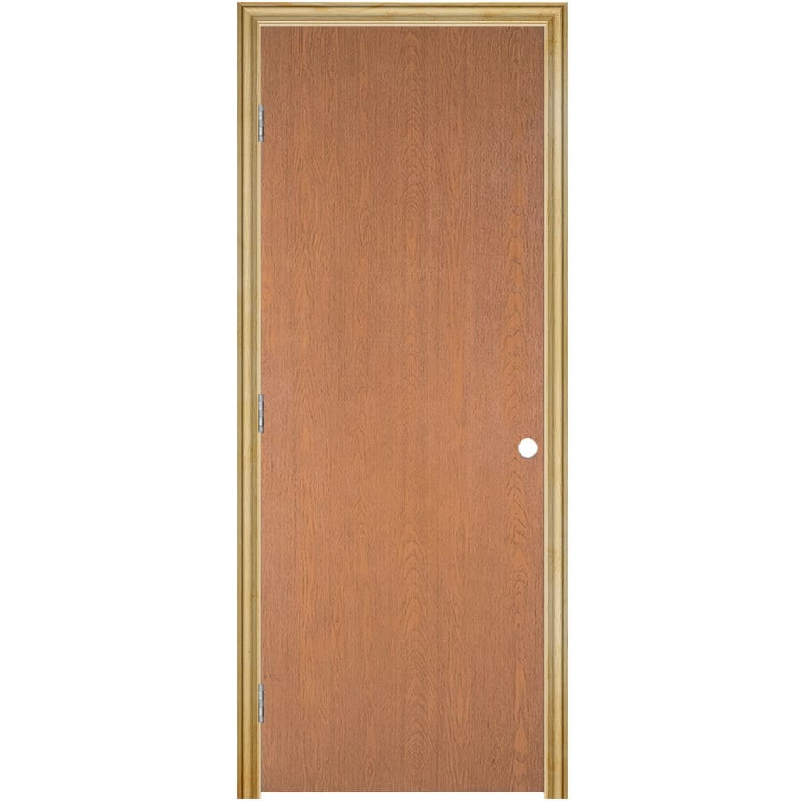 ReliaBilt Prehung Hollow Core Flush Lauan Interior Door (Common: 32-in x 80-in; Actual: 33.5-in x 81.5-in)