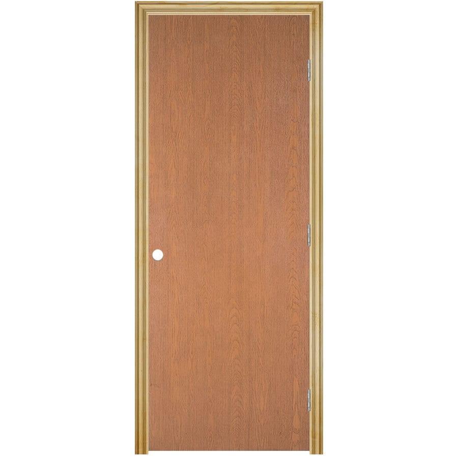 ReliaBilt Classics  Flush Lauan Single Prehung Interior Door (Common: 32-in X 80-in; Actual: 33.5-in x 81.5-in)