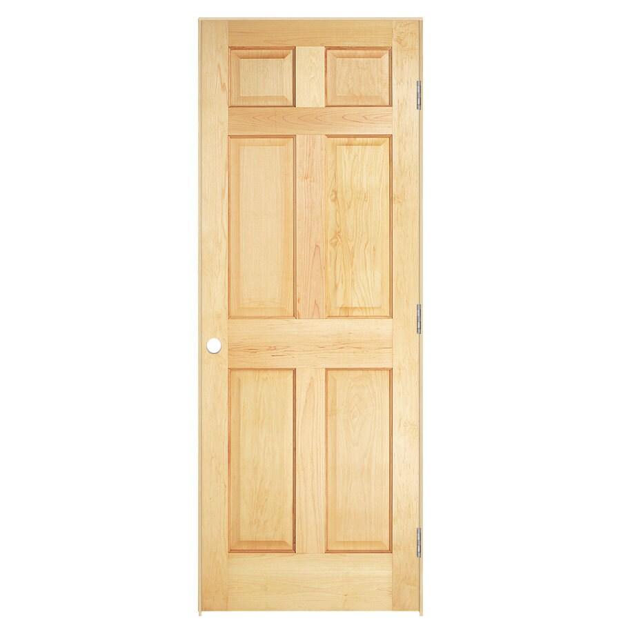 ReliaBilt Classics 6-panel Pine Single Prehung Interior Door (Common: 24-in x 80-in; Actual: 25.5-in x 81.5-in)