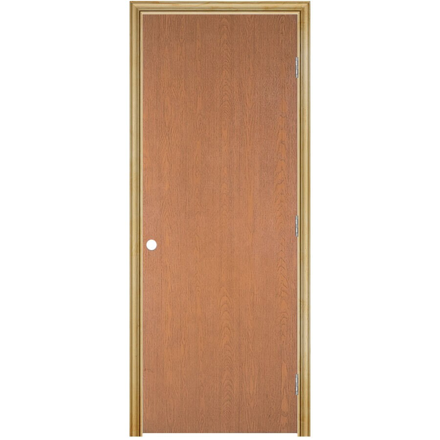 ReliaBilt Prehung Hollow Core Flush Lauan Interior Door (Common: 30-in x 80-in; Actual: 31.5-in x 81.5-in)