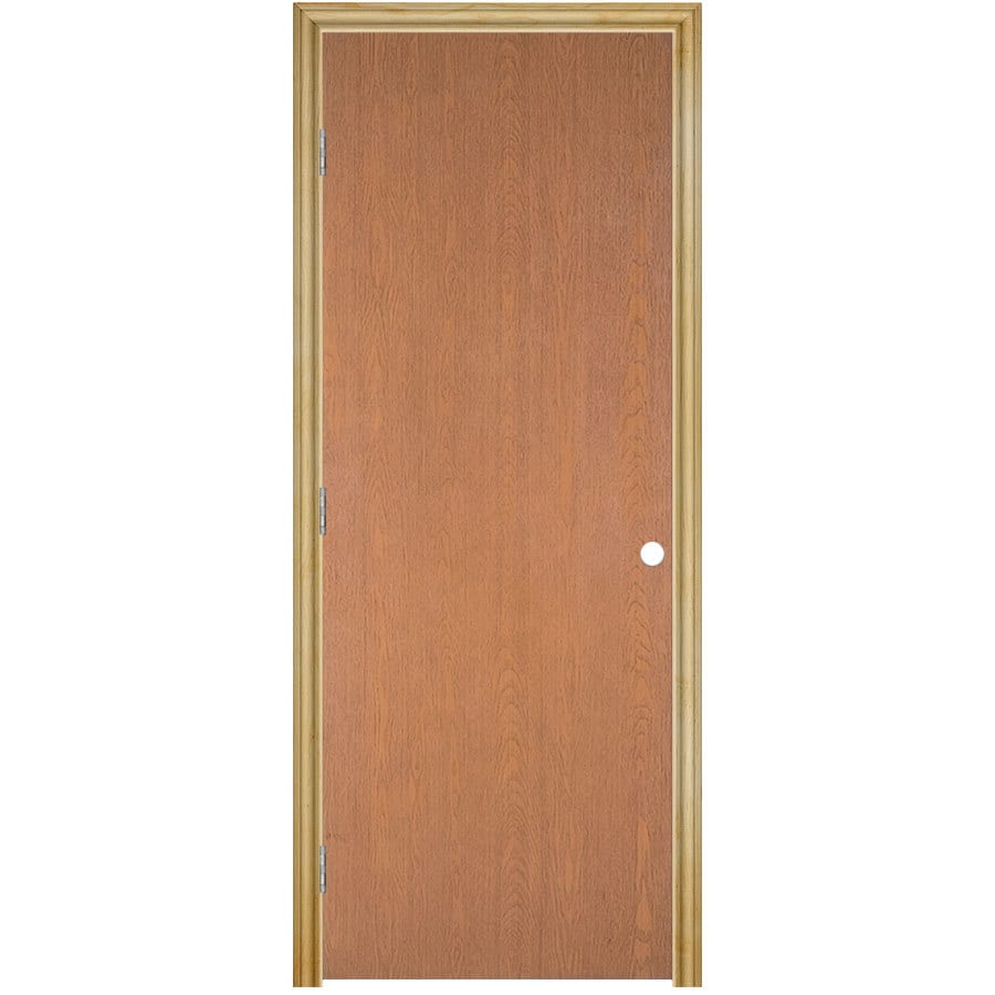 Charmant ReliaBilt Prehung Hollow Core Flush Lauan Interior Door (Common: 30 In X 80