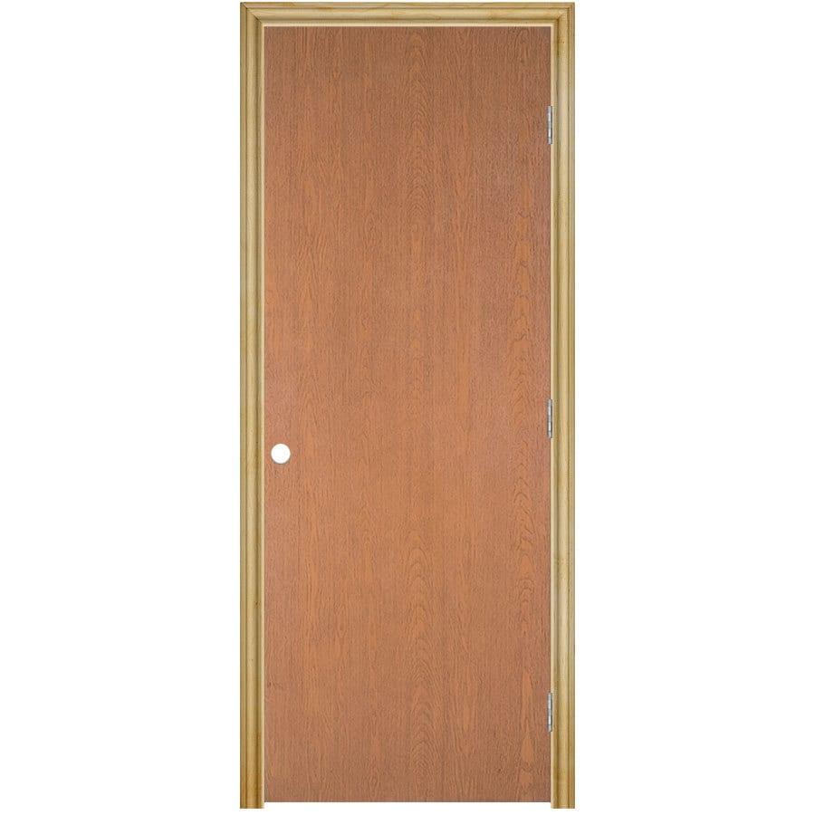 ReliaBilt Classics Flush Lauan Single Prehung Interior Door (Common: 30-in X 80-in; Actual: 31.5-in x 81.5-in)