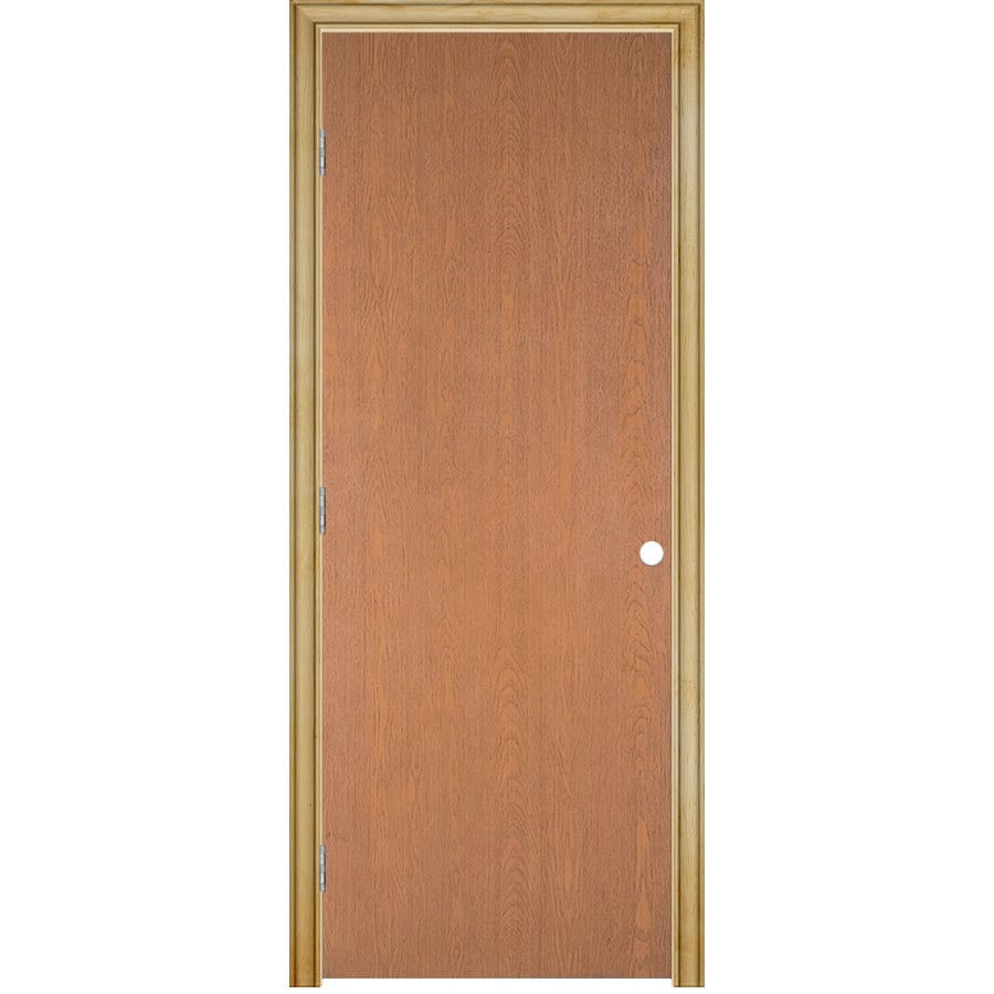 ReliaBilt Classics Flush Lauan Single Prehung Interior Door (Common: 24-in x 80-in; Actual: 25.5-in x 81.5-in)