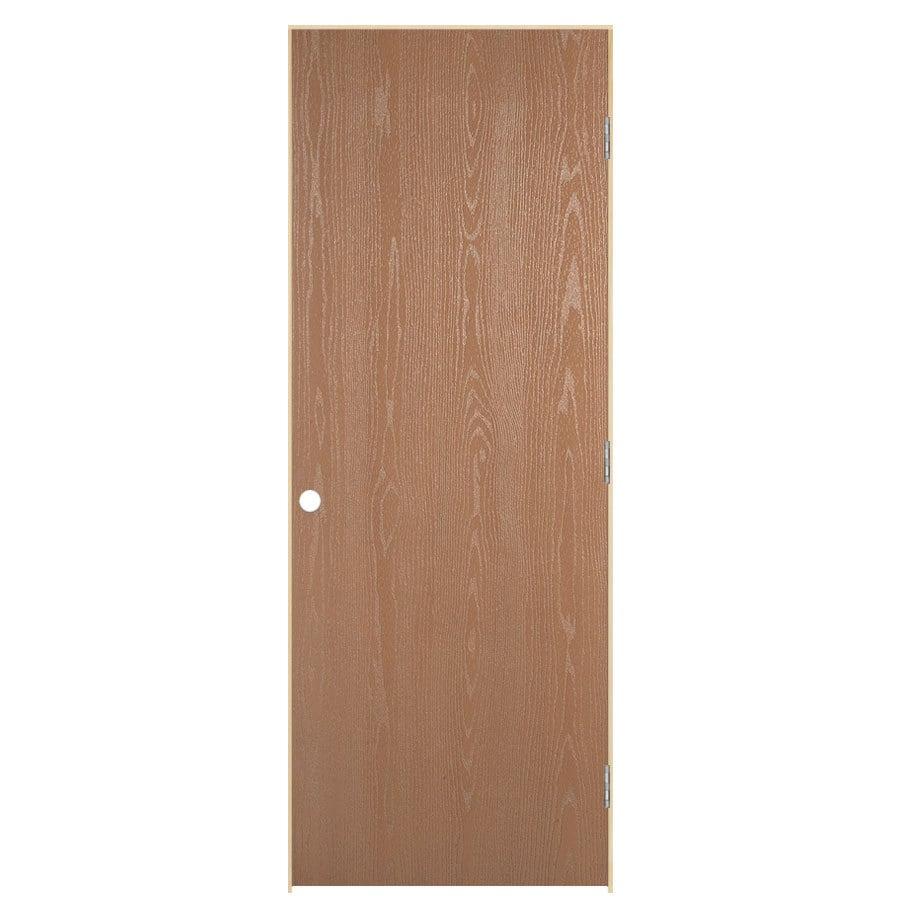 Shop Reliabilt Prehung Hollow Core Flush Oak Interior Door Common