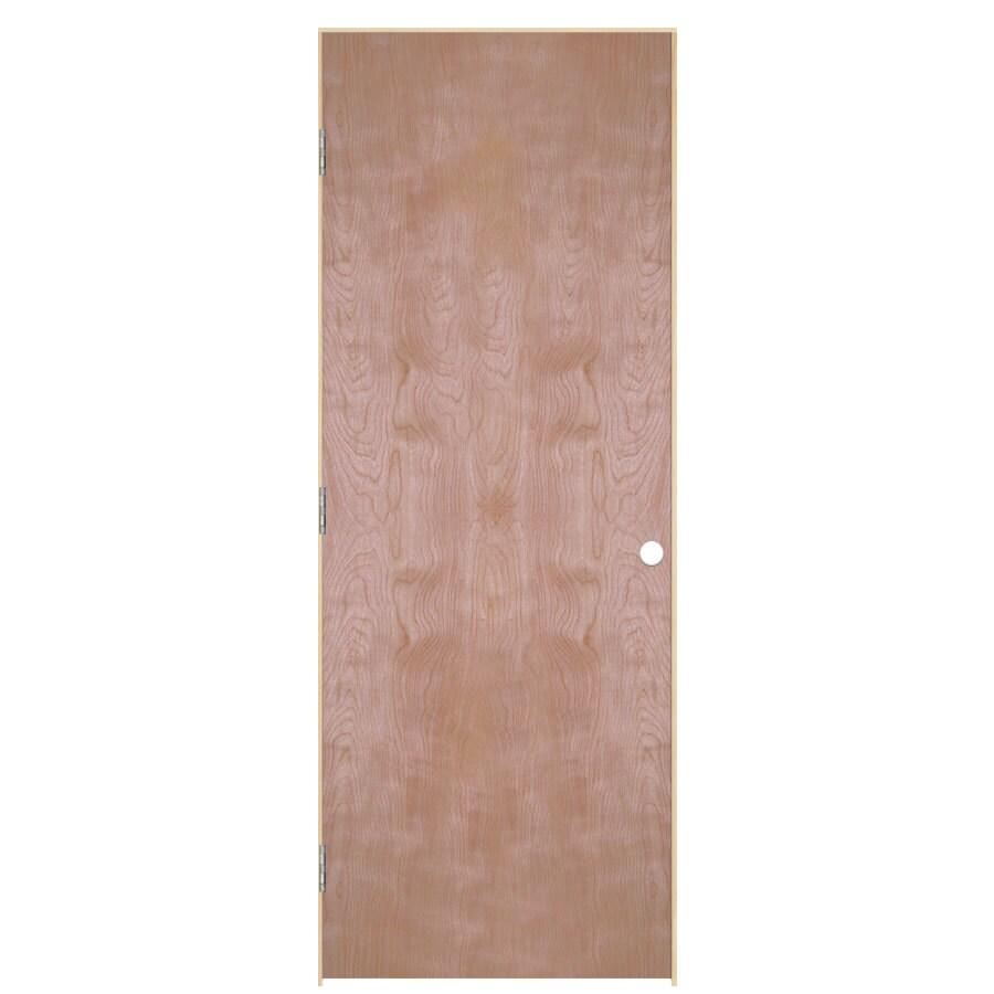 ReliaBilt Classics Flush Birch Single Prehung Interior Door (Common: 28-in X 80-in; Actual: 29.5-in x 81.5-in)