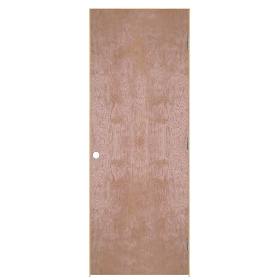 ReliaBilt Prehung Hollow Core Flush Birch Interior Door (Common: 28-in x 80-in; Actual: 29.5-in x 81.5-in)