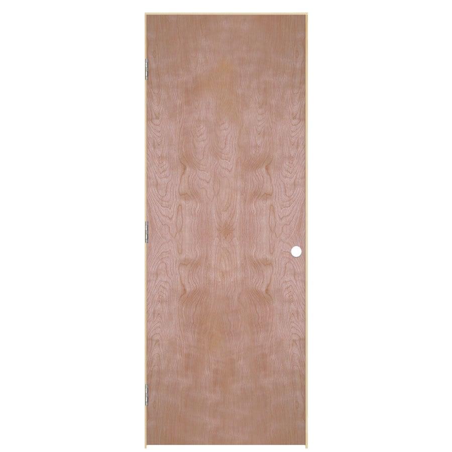 ReliaBilt Prehung Hollow Core Flush Birch Interior Door (Common: 36-in x 80-in; Actual: 37.5-in x 81.5-in)