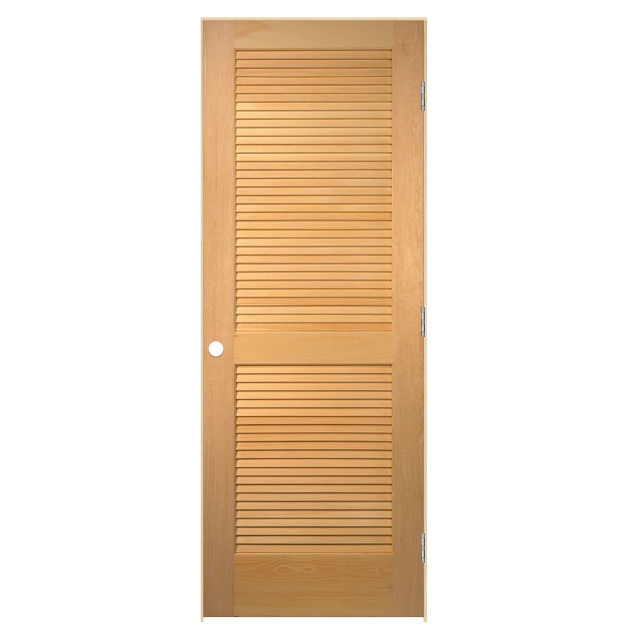 ReliaBilt Prehung Solid Core Full Louver Pine Interior Door (Common: 24-in x 80-in; Actual: 25.5-in x 81.5-in)