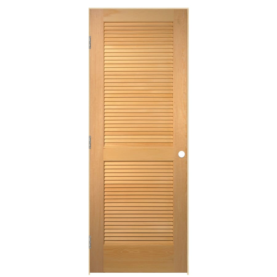 ReliaBilt Prehung Solid Core Full Louver Pine Interior Door (Common: 28-in x 80-in; Actual: 29.5-in x 81.5-in)