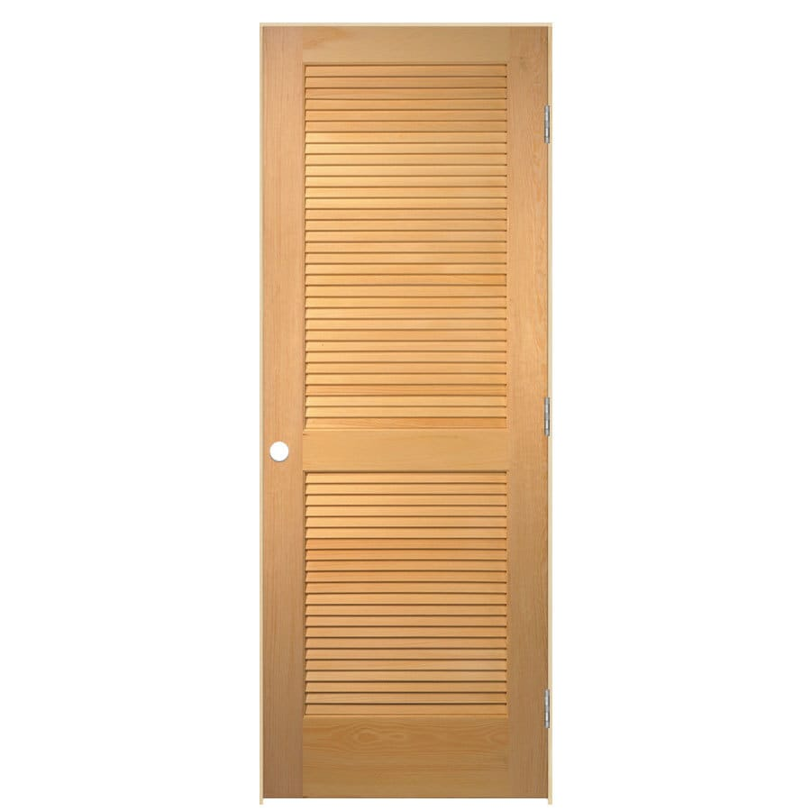 Shop Reliabilt Prehung Solid Core Full Louver Pine Interior Door Common 36 In X 80 In Actual