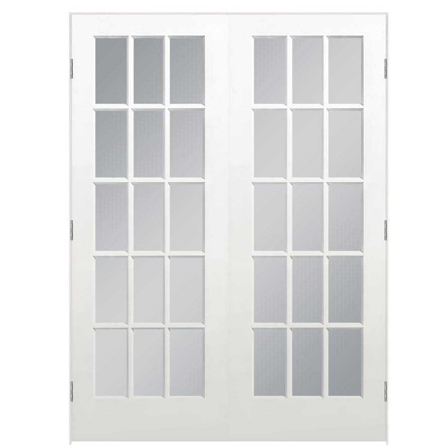 ReliaBilt Prehung Solid Core 15-Lite Clear Glass Pine Interior Door (Common: 60-in x 80-in; Actual: 61.5-in x 81.5-in)