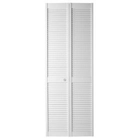 Masonite Louver White Solid Core Wood Pine Bi Fold Closet Interior Door  With Hardware