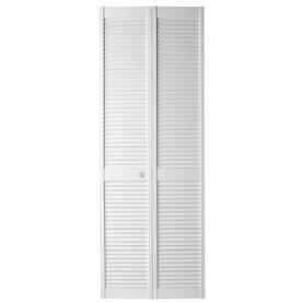 Masonite White Solid Core Full Louver Pine Bi Fold Closet Interior Door