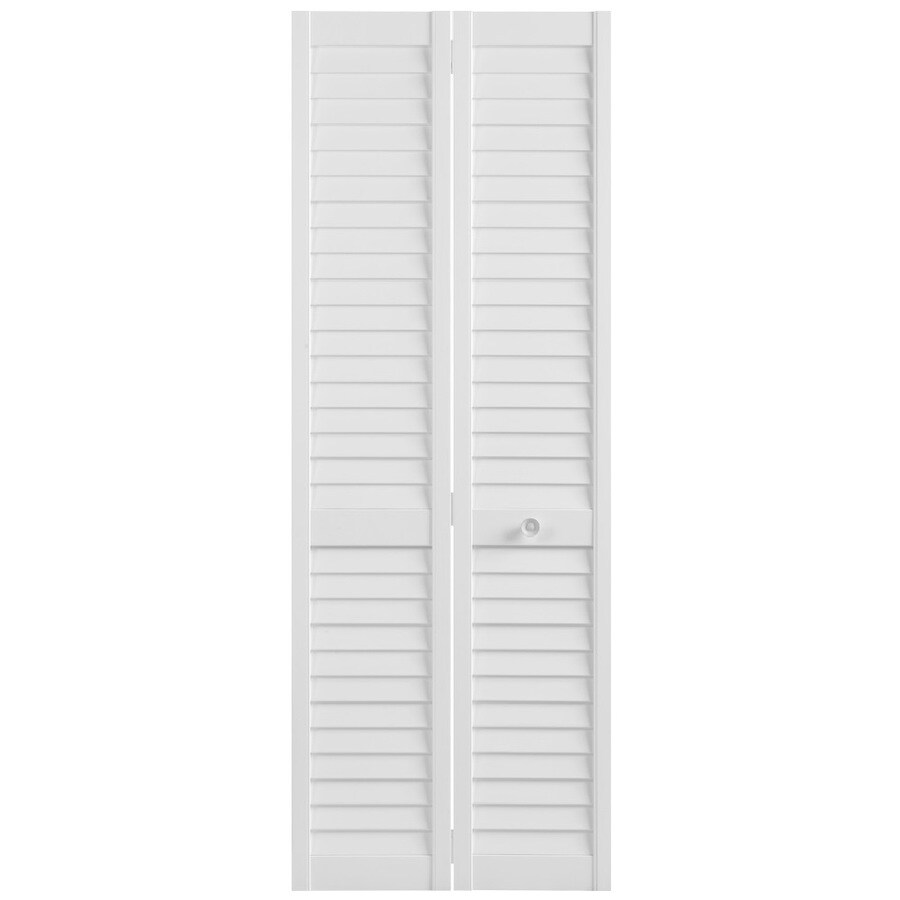 Masonite Classics White Solid Core Pine Bi-Fold Closet Interior Door with Hardware (Common: 36-in x 80-in; Actual: 35.5-in x 79-in)
