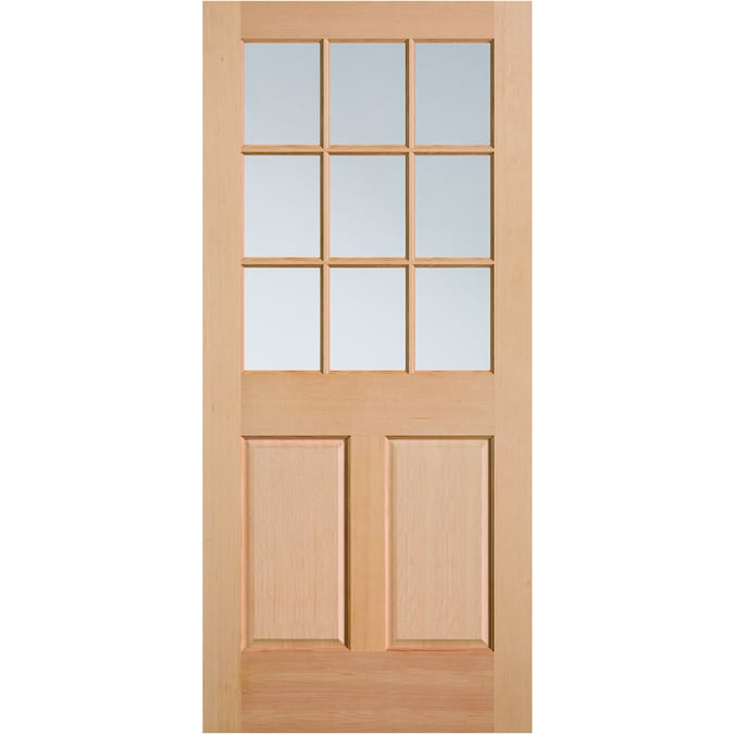 Masonite 32 In X 80 In Wood Half Lite Universal Reversible Fir Unfinished Slab Front Door In The Front Doors Department At Lowes Com Choosing the right glass for your front entry door is a meticulous process. masonite 32 in x 80 in wood half lite universal reversible fir unfinished slab front door