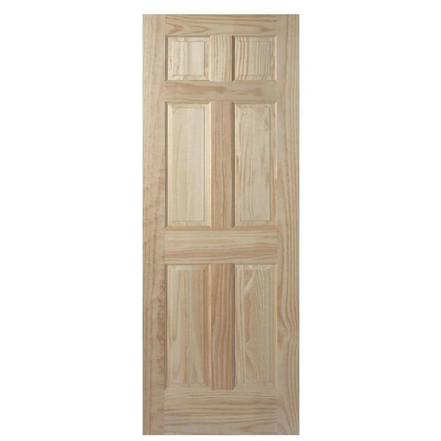 Shop masonite classics 6 panel pine slab interior door for 6 panel doors