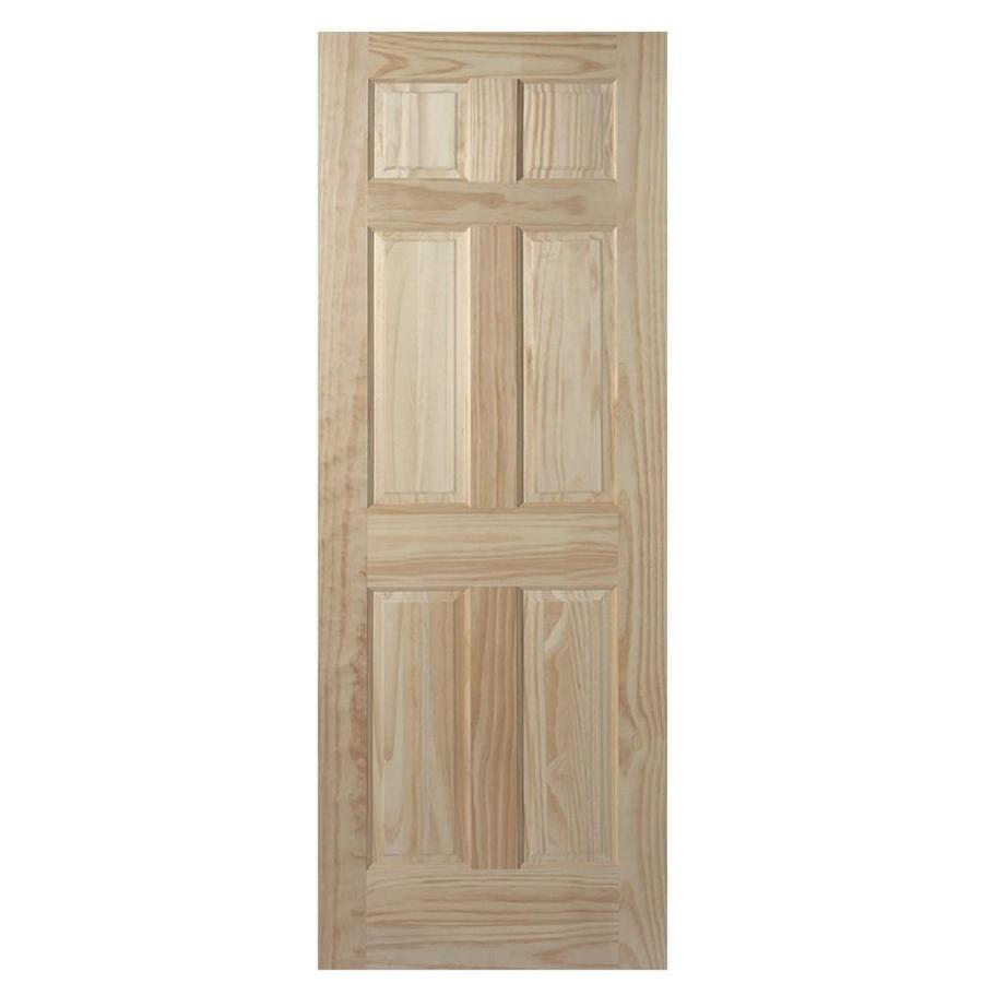 Shop Masonite Unfinished 6-Panel Solid Core Pine Wood Slab