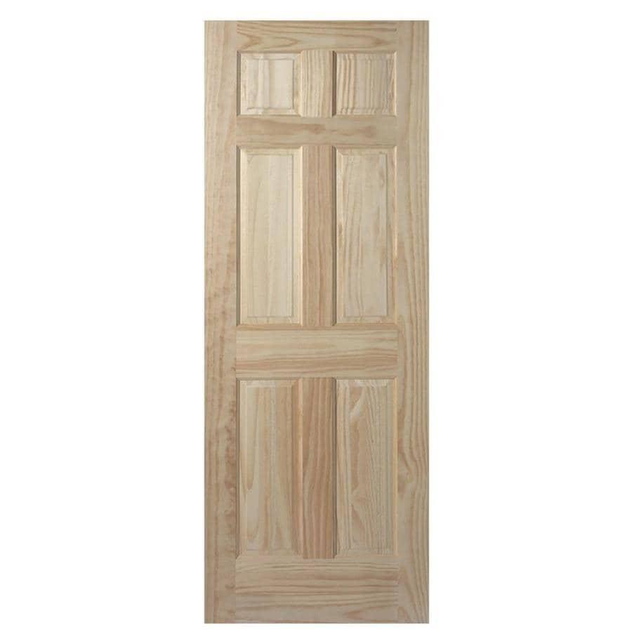 Masonite Panel Solid Core Pine Slab Interior Door (Common: 36-in x 78-in; Actual: 36-in x 78-in)