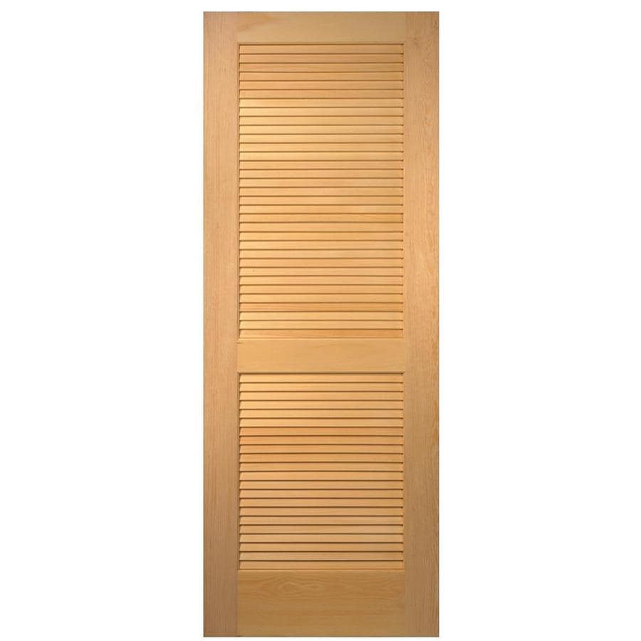 Shop Masonite Louver Solid Core Pine Slab Interior Door Common 32 In X 80 In Actual 32 In X