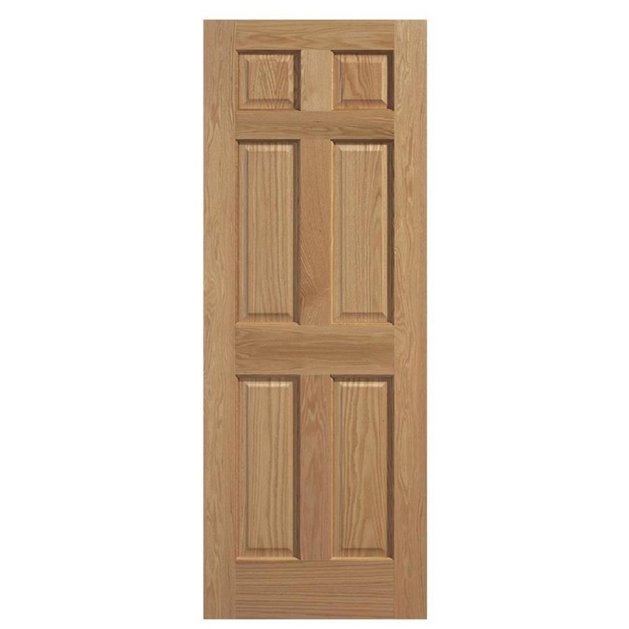 Masonite Solid Core 6-Panel Oak Slab Interior Door (Common: 32-in x 80-in; Actual: 32-in x 80-in)