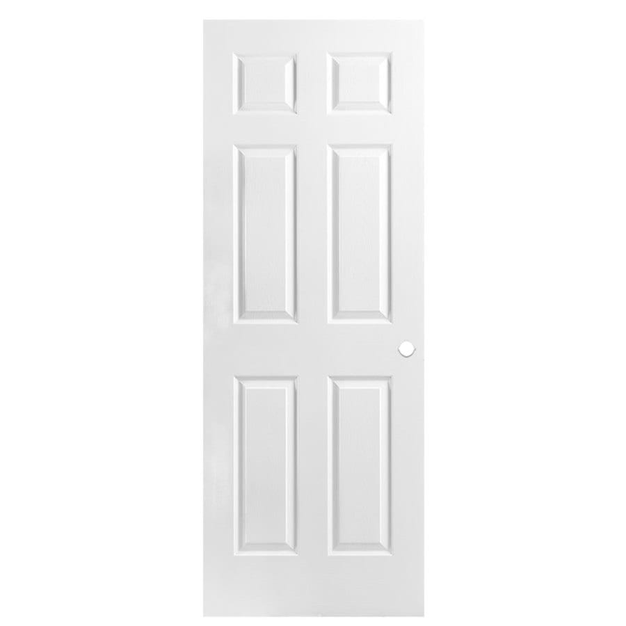Shop Masonite Primed 6 Panel Hollow Core Molded Composite Slab Door