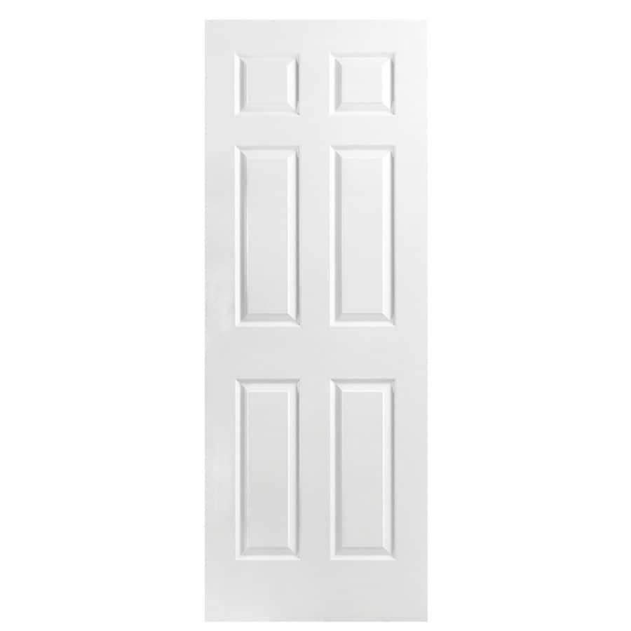 Masonite Classics 6-panel Slab Interior Door (Common: 28-in x 78-in; Actual: 28-in x 78-in)