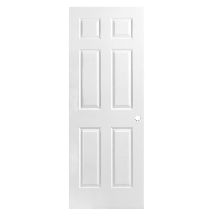 Masonite Hollow Core 6-Panel Slab Interior Door (Common: 32-in x 78-in; Actual: 32-in x 78-in)