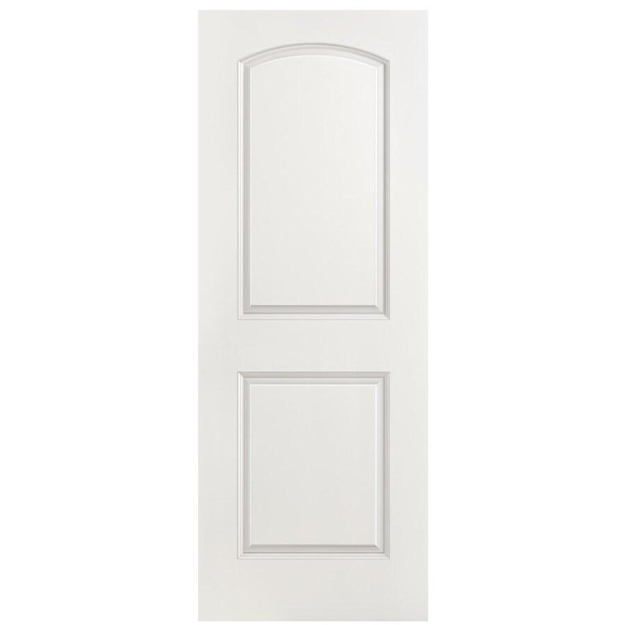 Masonite Hollow Core 2-Panel Round Top Slab Interior Door (Common: 36-in x 80-in; Actual: 36-in x 80-in)