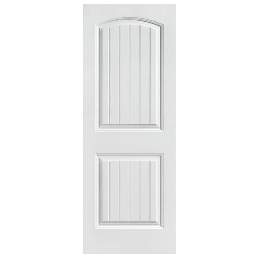 Masonite Hollow Core 2-Panel Round Top Plank Slab Interior Door (Common: 24-in x 80-in; Actual: 24-in x 80-in)