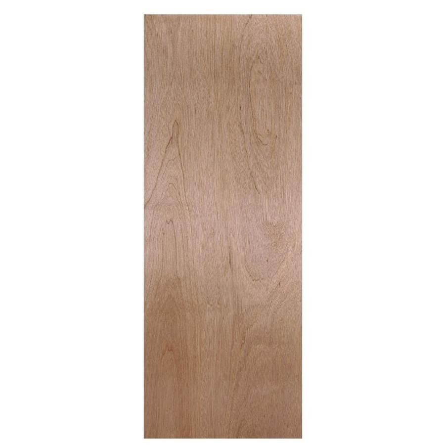 Masonite Hollow Core Flush Hardwood Slab Interior Door (Common: 36-in x 78-in; Actual: 36-in x 80-in)