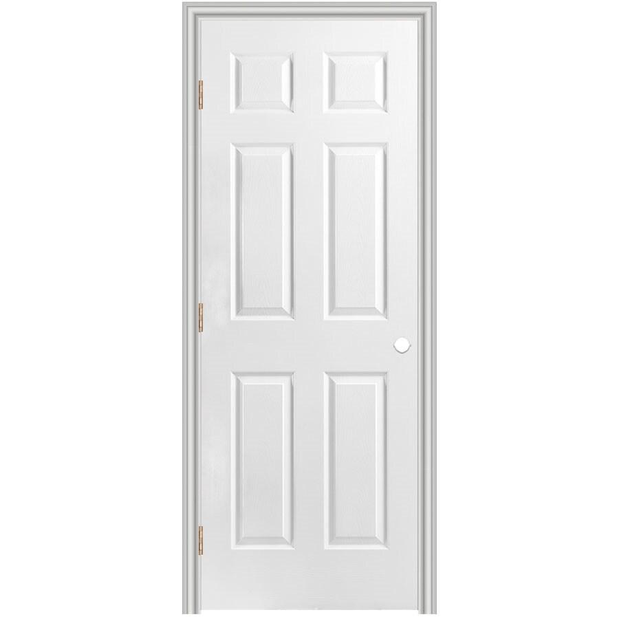 Masonite Prehung Hollow Core 6-Panel Interior Door (Common: 28-in x 80-in; Actual: 29.5-in x 81.5-in)