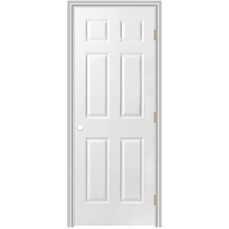 Masonite Prehung Hollow Core 6-Panel Interior Door (Common: 30-in x 80-in; Actual: 31.5-in x 81.5-in)