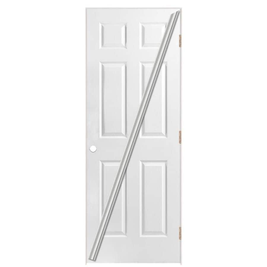 Masonite Loose 366 Prehung Hollow Core 6-Panel Interior Door (Common: 24-in x 80-in; Actual: 25.5-in x 81.5-in)