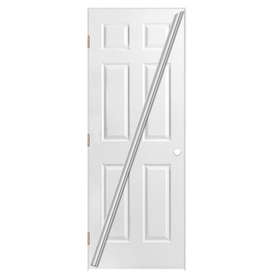 Masonite Loose 366 Prehung Hollow Core 6-Panel Interior Door (Common: 28-in x 80-in; Actual: 29.5-in x 81.5-in)