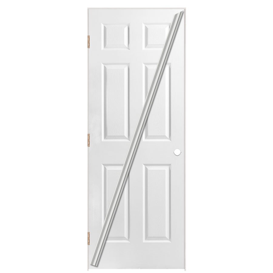 Masonite Loose 366 Prehung Hollow Core 6-Panel Interior Door (Common: 32-in x 80-in; Actual: 33.5-in x 81.5-in)