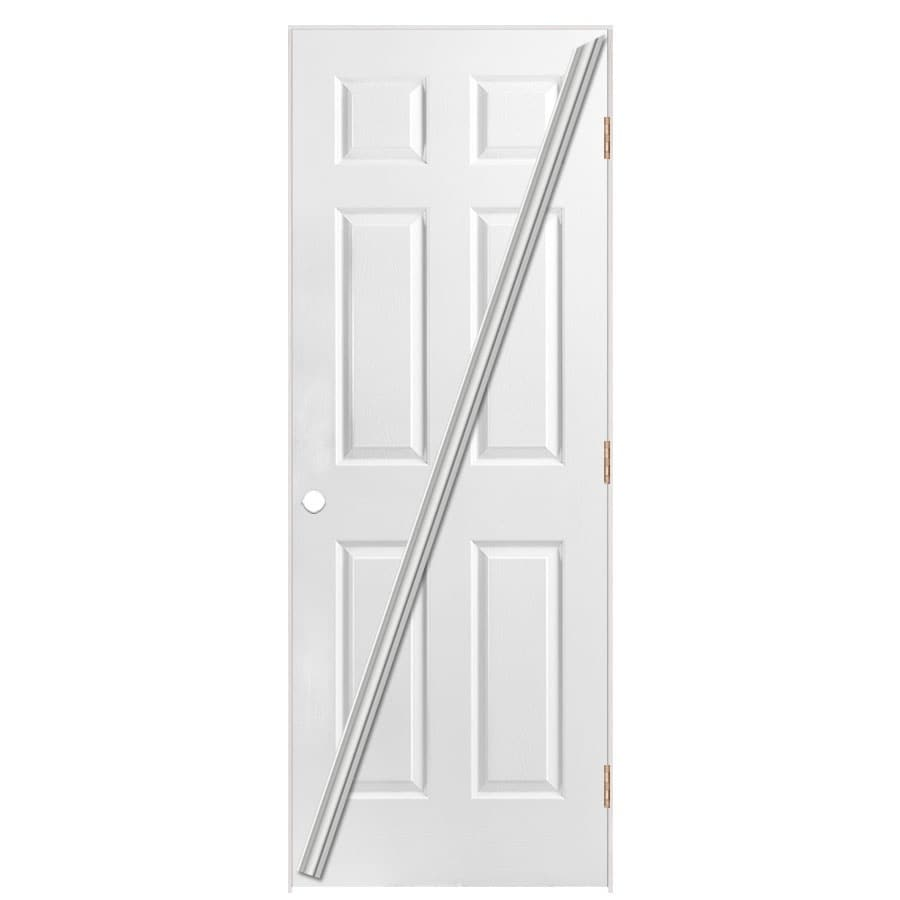 Masonite Loose 366 Prehung Hollow Core 6-Panel Interior Door (Common: 32-in x 80-in; Actual: 33.5-in x 81.5-in)