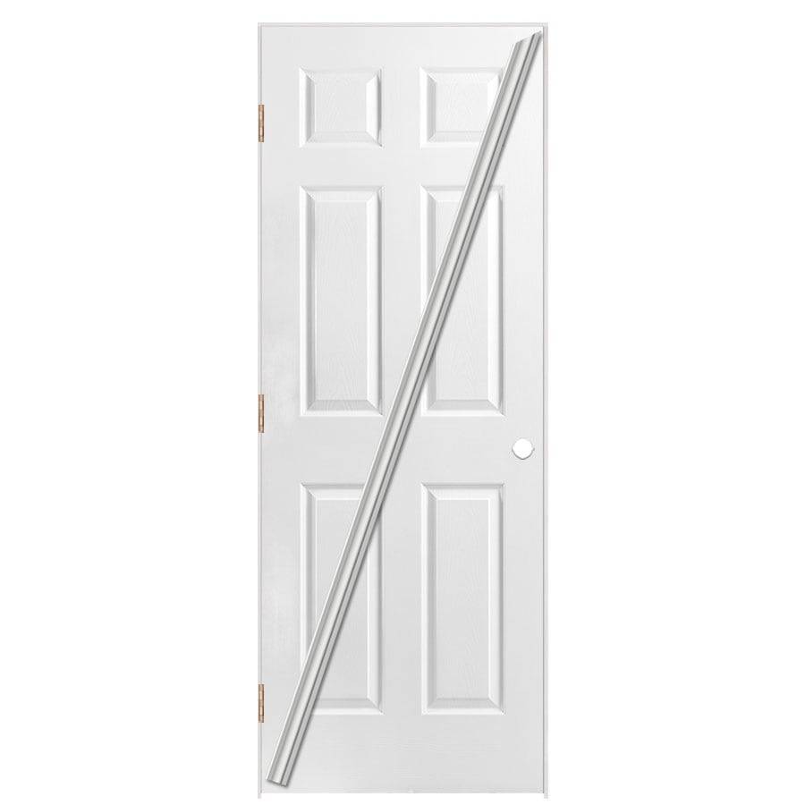Masonite Loose 366 Prehung Hollow Core 6-Panel Interior Door (Common: 36-in x 80-in; Actual: 37.5-in x 81.5-in)