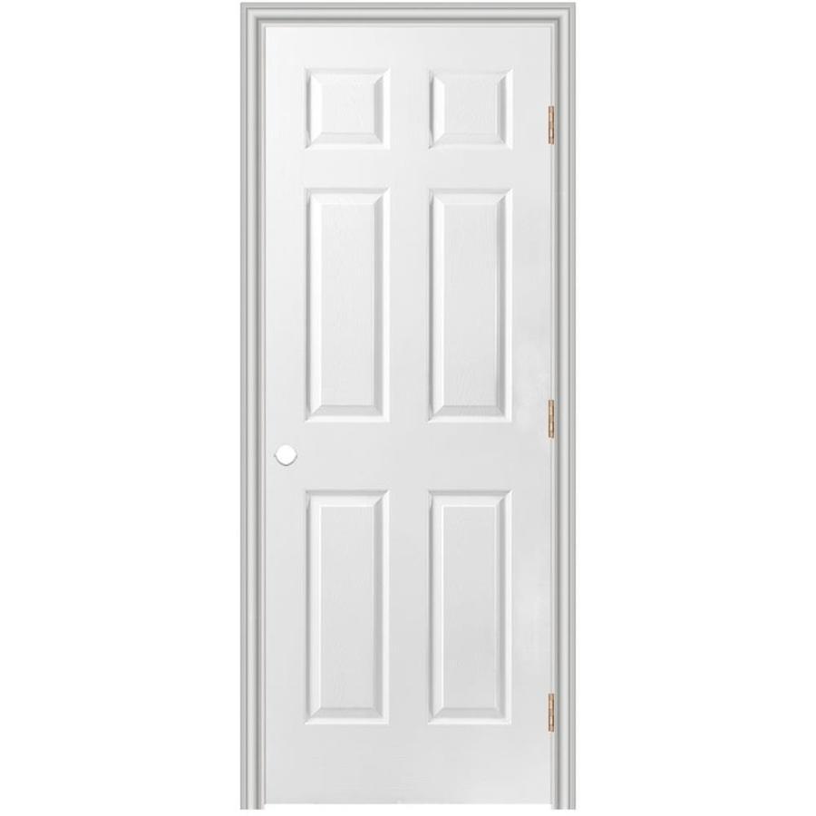 Masonite Prehung Hollow Core 6-Panel Interior Door (Common: 36-in x 80-in; Actual: 37.5-in x 81.5-in)