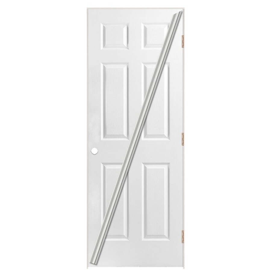 Masonite Loose 366  6-panel Single Prehung Interior Door (Common: 24-in X 80-in; Actual: 25.5-in x 81.5-in)