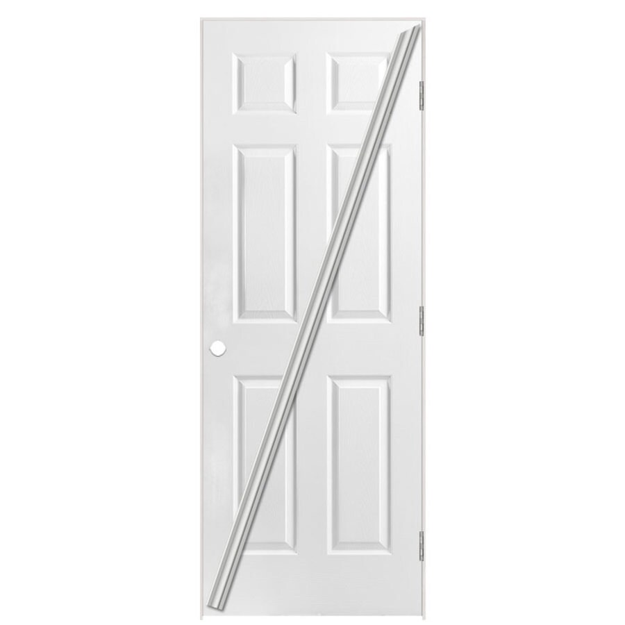 Masonite Loose 366 Prehung Hollow Core 6-Panel Interior Door (Common: 28-in x 80-in; Actual: 29.5-in x 81.5-in)